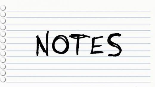 笔记 Notes